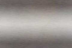 Borstad metalltextur Arkivbild