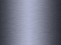 Borstad stål eller metall Arkivbild