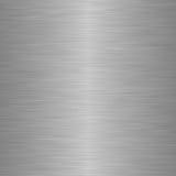 Borstad stål eller metall som bakgrund Fotografering för Bildbyråer