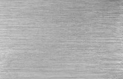 Borstad stålmetalltextur Arkivbilder