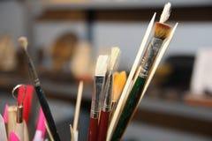 Borstar för konstnär` s Art Culture Abstract Concept royaltyfri fotografi