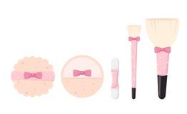 Borstar för makeup isolerad illustration Arkivfoto