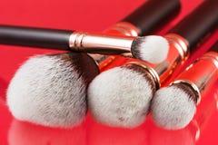 borstar isolerad set white för makeup Fotografering för Bildbyråer