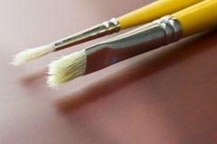 borstar målar använt Royaltyfri Foto