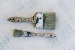 borstar målar använt arkivfoto