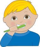 borstatänder för pojke vektor illustrationer