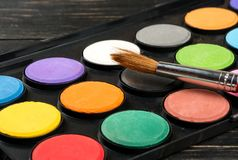 8 borste eps över palettvektorwhite Royaltyfri Fotografi
