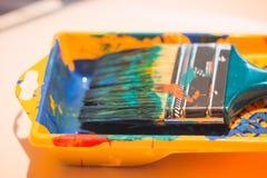 Borste för att måla Arkivbilder