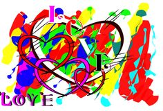 Borste för förälskelsedesignstil Royaltyfria Bilder