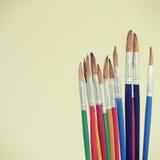 borste isolerad målarfärgwhite Royaltyfri Bild