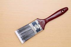 borste isolerad målarfärgwhite Arkivbilder