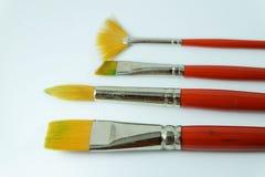 borste isolerad målarfärgwhite Royaltyfria Bilder