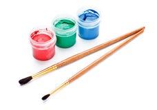 borstecansmålarfärg Arkivfoto