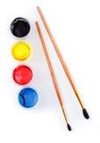 borstecansmålarfärg Fotografering för Bildbyråer