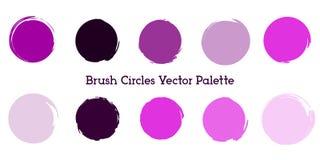 Borstecirklar färgar paletten i violett stock illustrationer