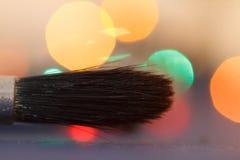 Borstekonstnärnärbild Closeupkonstnärhjälpmedel Royaltyfri Fotografi