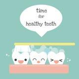 Borstel de tanden stock illustratie