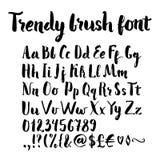 Borstel geschreven alfabet Stock Foto's