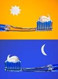 Borstel Uw Tanden Stock Afbeelding