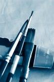 Borstel van kunst (hard staal) stock afbeelding
