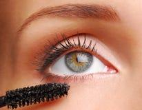 Borstel voor eyelashs royalty-vrije stock fotografie