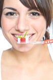 Borstelende tanden Royalty-vrije Stock Foto