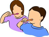Borstelende Tanden vector illustratie