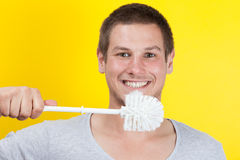 Borstelende tanden Royalty-vrije Stock Afbeelding