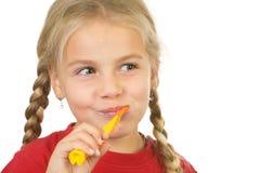 Borstelende tanden stock fotografie