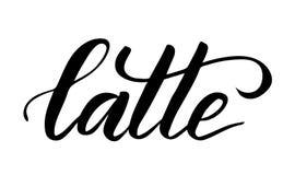Borstelkalligrafie Latte vector illustratie