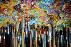 Borstels op Abstract Art. Stock Foto