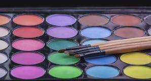 Borstels voor make-up Royalty-vrije Stock Foto's