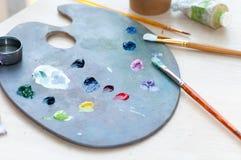 Borstels voor vuil schilderen Stock Foto