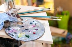 Borstels voor vuil schilderen Stock Afbeelding