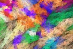 Borstelslagen van olieverfschilderij Stock Fotografie