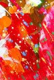 Borstelslagen van verschillende kleuren Royalty-vrije Stock Afbeeldingen