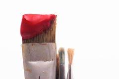borstemålarfärg Royaltyfria Foton