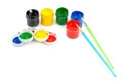 borstemålarfärgvattenfärg Royaltyfri Fotografi