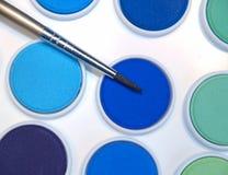 borstemålarfärgvattenfärg Arkivbild