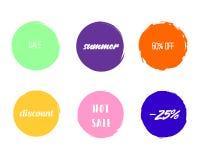 Borsten cirklar den Sale designen stock illustrationer