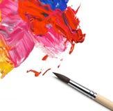 Borsten och abstrakt begrepp målade bakgrund arkivbild