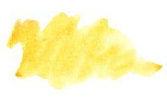 borsten strokes yellow Royaltyfri Bild