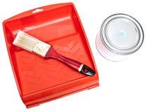 borstet kan color paletten Fotografering för Bildbyråer