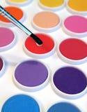 borstevattenfärger Royaltyfri Fotografi