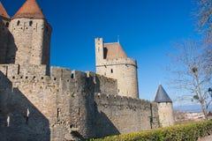 Borstwering van Carcassonne Stock Afbeeldingen