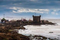Borstweringen bij de kust in Essaouira Stock Afbeeldingen