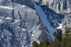 Borstweringen boven Lager Lamarck-Meer, John Muir Wilderness, Siërra Nevada Range, Californië Royalty-vrije Stock Afbeeldingen