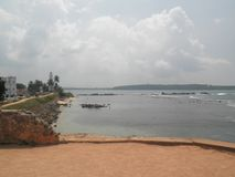Borstweringen Galle Sri Lanka Royalty-vrije Stock Foto