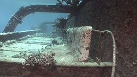 Bort of ship Salem Express on seabed wrecks underwater in Egypt. stock footage