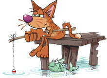 Borta fiske stock illustrationer